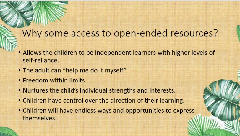 Why some access to open ended resources