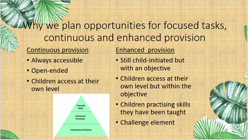 Why we plan focused, continuous and enhanced provision